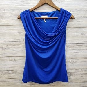 Laundry by Shelli Segal Royal Blue Sleeveless Top